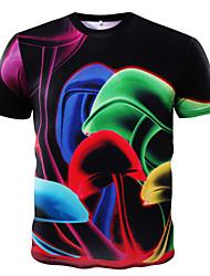 Tee-shirt Homme,Imprimé Sports Décontracté / Quotidien Manches Courtes Coton