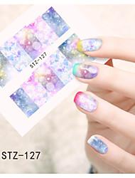 1pcs  Water Transfer Nail Art Stickers  Colorful Flower Nail Art Design STZ126-133