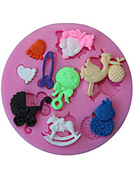 3D Bear Feet Baby Toy Baking Molds for Fondant Candy Chocolate Cake