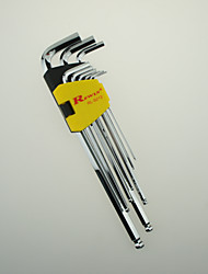 REWIN® TOOL The S2 Alloy Steel Specialty-Type 9Pcs Hex Key Set Longest