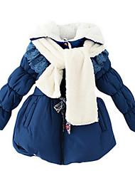 Girl's Blue / Pink Jacket & Coat,Lace / Stripes Nylon Winter