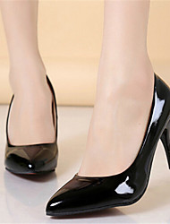 Women's Shoes Leather Stiletto Heel Heels Heels Wedding / Office & Career / Party & Evening / DressBlack / Blue / Yellow