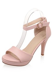 Women's Shoes Stiletto Heels/Platform/Sling back/Open Toe Sandals Party & Evening/Dress Black/Pink/White