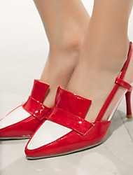 Women's Shoes Patent Leather/Stiletto Heel/Sling back/Pointed Toe Heels Office & Career/Party & Evening/Dress