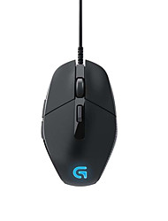 Original Logitech G302 Optical Gaming Mouse Daedalus Prime Moba Programmable Lighting Mouse 4000 dpi Black