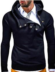 Brand Hight Qualiyt Men's Casual/Daily Simple Regular HoodiesSolid Blue Hooded Long Sleeve Polyester Spring / Fall Medium Micro-elastic