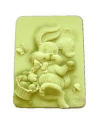 Кролик Shaped Выпекать Плесень, W9.5cm х L7.6cm х H3.1cm