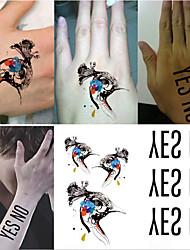 2016 New Water Transfer Waterproof Temporary Tattoo Sticker Body Art Sexy Product(10PCS)