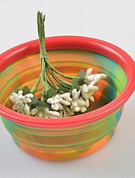 Cat / Dog Bowls & Water Bottles Pet Bowls & Feeding Foldable Multicolor / Random Color Silicone