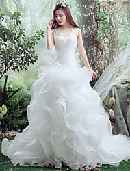 Trumpet/Mermaid Wedding Dress-Court Train Sweetheart Lace / Tulle