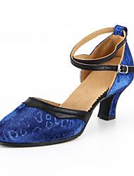 Sapatos de Dança(Azul / Amarelo) -Feminino-Personalizável-Moderna