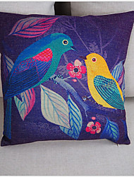 Pillow Case Birds Month Cartoons Printed Kids Cotton Linen Decorative Home Cushion Comfortable Back Throw Cove