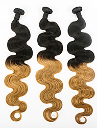 Human Hair Weaves 3pieces #1B/27 Ombre Color Hair Extension Body Wave Hair Weft