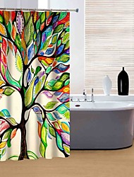 """Modern Colourful Tree Shower Curtains W71""""×L71"""""""