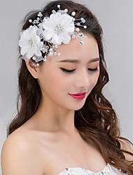 cristal perle de dentelle d'argent bandeau front bijoux de cheveux de femmes pour la fête de mariage