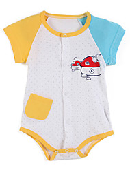 Girl's Yellow Clothing Set Cotton Summer / Spring