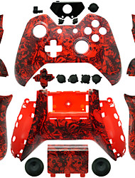 Replacement Controller Case for Xbox One Controller (Red Skull)