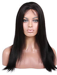8 to 24 inches Brazilian Human Hair Wigs Yaki Straight Glueless Lace Front Wigs For Black Women