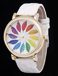 L.WEST Ladies' Colorful Leaves Scales Diamonds Serpentine Belt Quartz Watch Cool Watches Unique Watches