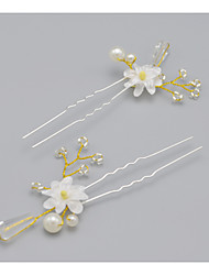 Women's Crystal / Alloy Headpiece-Wedding / Special Occasion Hair Pin 2 Pieces