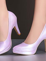 Zapatos de mujer-Tacón Stiletto-Tacones / Plataforma / Puntiagudos-Tacones-Fiesta y Noche / Vestido-Semicuero-Rosa / Morado / Blanco /