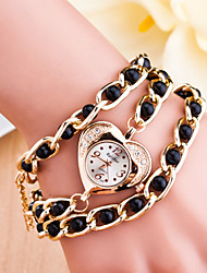 Women's Korea's Golden Clip Pearl Love Ladies Watch