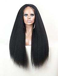 joywigs brazilian dentelle yaki italien devant perruque crépus droites perruques de lacet perruques de cheveux humains vierges pour les