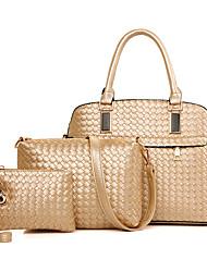 VUITTON Women PU Shell Shoulder Bag / Tote / Satchel / Clutch-White / Blue / Gold / Red / Black