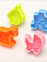Cute Whirligig Cutter Fondant Biscuit Mold Cake Sugarcraft Craft Moulds Modelling Tools,Set of 4