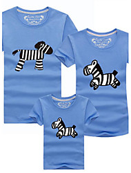 Short Sleeve Cotton Family Clothing Sets,Summer Tee