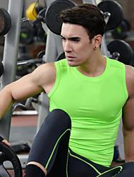 Course / Running Hauts/Tops Homme Sans manche Respirable Séchage rapide Spandex Polyester Exercice & Fitness Sportif Vêtements de sport