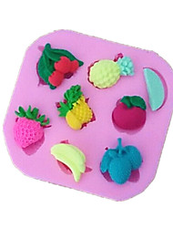 Fruits Apple Strawberry Shaped Fondant Cake Chocolate Silicone Mold