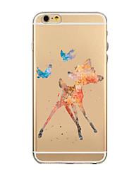 la beauté Pinting modèle tpu soft shell transparent phone case cas de couverture arrière pour iPhone6 plus / 6s, plus