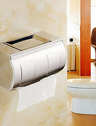 WC-Rollenhalter Chrom Wandmontage 24*23*18cm Edelstahl Modern