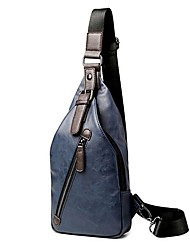 Для мужчин Полиуретан Спортивный / На каждый день / Для отдыха на природе Слинг сумки на ремне Синий / Коричневый / Черный