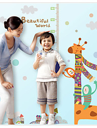 MJ8030 Decorate  Giraffe Pattern Removable Wall Stickers Height Measure For Kids Room Wall Decal Home Decals