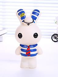 Lovely Navy Wind Piggy Bank Not Afraid Fell Cartoon Rabbit Rabbit Piggy Bank Large Sugar Gum Piggy Bank