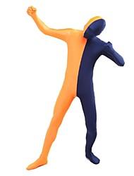 Costumes zentai Ninja Costume Zentai Costumes de Cosplay Noir / Orange Mosaïque Collant/Combinaison / Costume Zentai Lycra / Elasthanne