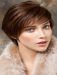 Hot European Woman's Brown Short Synthetic Wigs