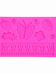 Cute Snail ButterflyFondant & Gum Paste Cake Mold Silicone Lace Embossing Mold for DIY