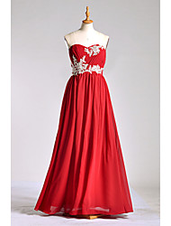 Floor-length Chiffon / Lace / Charmeuse Bridesmaid Dress A-line Sweetheart