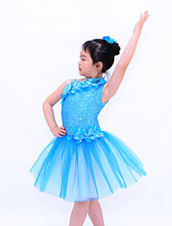Ballet Dresses Women's / Children's Performance Sequined / Lycra Flower(s) / Sequins As Picture Ballet / Modern Dance / Performance