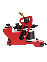 New Arrive Hanmade Tattoo Machine For Shader Liner Red Color Iron Tattoo Supplies 10 Wrap Coil