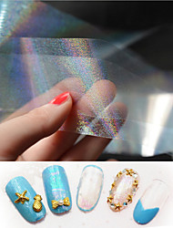 Newly arrive high quality 1PC Colorful Transparent Nail Star Sticker Star High-end decorative nail Aurora Star Sticker