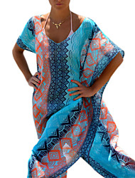 Women's Sexy Loose Long Beach Cover-Ups , Chiffon