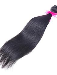 """venta caliente 8 """"-26"""" extensiones del pelo del pelo virginal brasileño rectas humanos de color negro natural haces de pelo humano."""