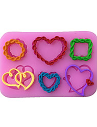 Heart Style Sugar Candy Fondant Cake Molds  For The Kitchen Baking Molds