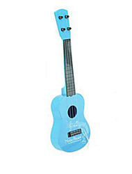 Plastic Blue / Pink Guitar Simulation Random Music Toy For Kids