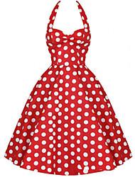 Klassische & Traditionelle Lolita Ärmellos Mittlerer Länge Rot Terylen Lolita Kleid