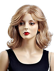 Middle Length European Weave Blonde Color Hair Synthetic Wigs
